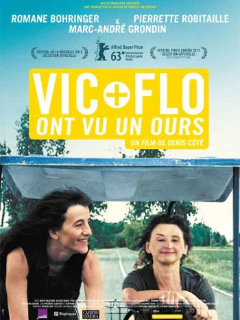 Affiche française du film de denis Côté Vic + Flo ont vu un ours