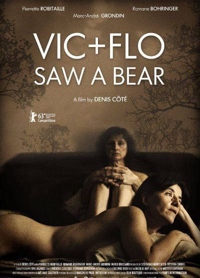 Affiche internationale du film de denis Côté Vic + Flo ont vu un ours (Vic + Flo Saw A Bear)