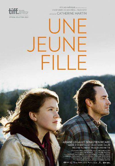 Affiche du film Une jeune fille de Catherine Martin (Films 53/12, Coop Video de Montréal - K-Films Amérique, 2013)