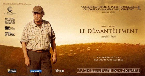 Bannière promotionnelle fran^caise du film Le démantèlement (©Sophie Dulac Distribution)
