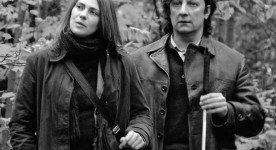 Hélène Florent et Roebrt Lepage dans le film Dans les villes (réal. C. Martin, 2006 - TVA Films)