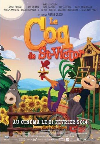 Affiche du film d'animation Le coq de St-Victor (©Equinoxe Films)