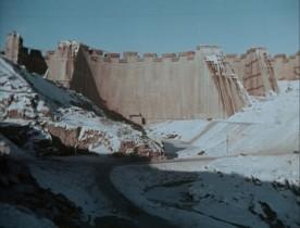 Documentaire de Gilles Groulx intitulé Québec... ? - Image du chantier de la Manicouagan (collection personnelle)