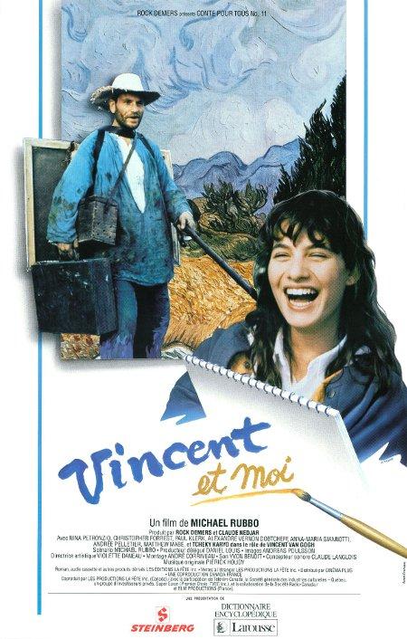 Affiche de la version française du film de Michael Rubbo Vincent and Me (Collection Cinémathèque québécoise)