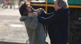 Image des comédiens Robin Aubert et Michel Côté dans Les maîtres du suspense (Stéphane Lapointe, 2014 - ©Films Séville)