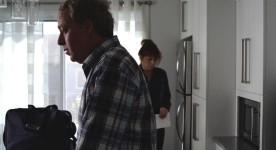 Image des comédiens Guy Jodoin et Martine Francke en pleine rupture. Extrait du film Antoine et Marie de Jimmy Larouche (source image : page Facebook du film)
