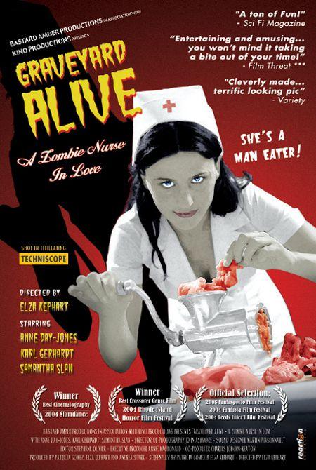 Affiche du film Graveyard Alive (réal. Elza Kephart, 2003 - ©Bastard Amber Productions)