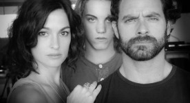 Guillaume Lemay-Thiverge, Antoine Desrochers et Madeleine Péloquin dans le film Nitro Rush (image fournie par la production)