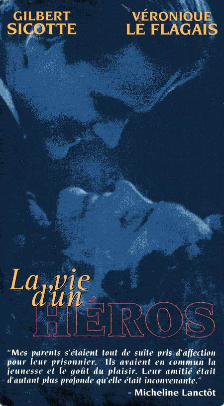 Recto de la jaquette de la VHS du film La vie d'un héros (source image : collection personnelle)