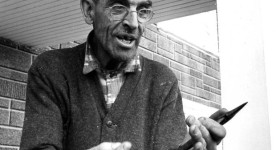 Image de Louis Harvey (Grand-Louis) habitant de l'Île aux Coudres dans le film Pour la suite du monde
