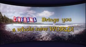 Image fixe du générique d'un documentaire réalisé en Cinerama