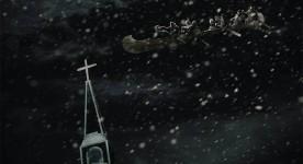 Affiche temporaire du film Chasse-galerie: la légende (source: Christal Films)
