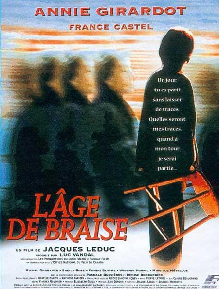 Affiche du film l'âge de braise de Jacques Leduc