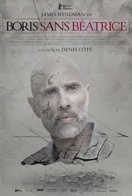 Visage de James Hyndman sur l'affiche du film Boris sans Béatrice de Denis Côté (K-Films Amérique, 2016)