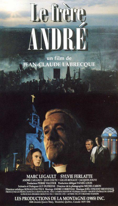 Jaquette de la VHS québécoise du film Le frère André de Jean-Claude Labrecque (image ©filmsquebec.com)
