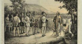 Jacques Cartier rencontre les Iroquois à Hochelaga en 1535