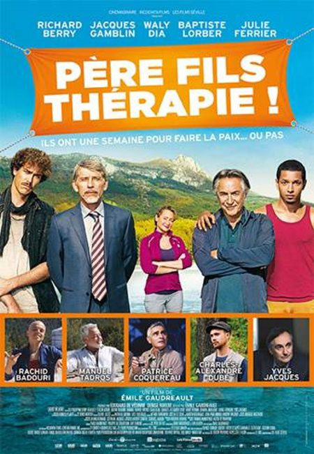 Affiche du film Franco-québécois Père Fils Thérapie ! (remake français de De père en flic)