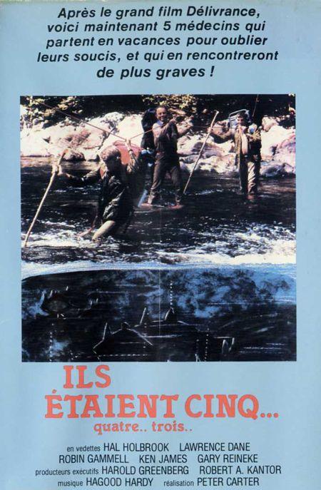 Couverture de la VHS du film Rituals (Ils étaient cinq en version française), drame d'horreur canadien réalisé par Peter Carter en 1976 (©filmsquebec.com)