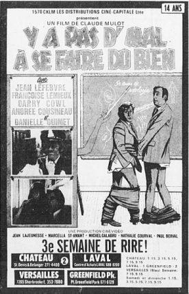 Y'a pas d'mal à se faire du bien – Film de Claude Mulot