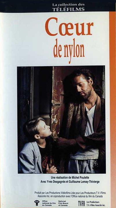 Pochette de la VHS du film Coeur de nylon de Michel Poulette (collection filmsquebec.com)