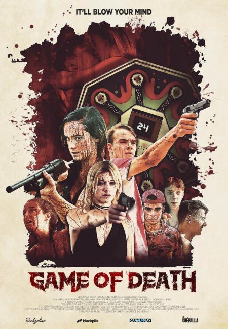 Affiche du drame d'horreur Game of Death réalisé par Sébastien Landry et Laurence Morais-Lagacé.