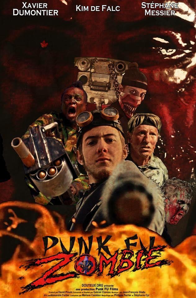 Affiche du film de Gabriel Claveau Punk Fu Zombie
