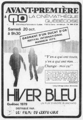 Hiver bleu, L' – Film d'André Blanchard