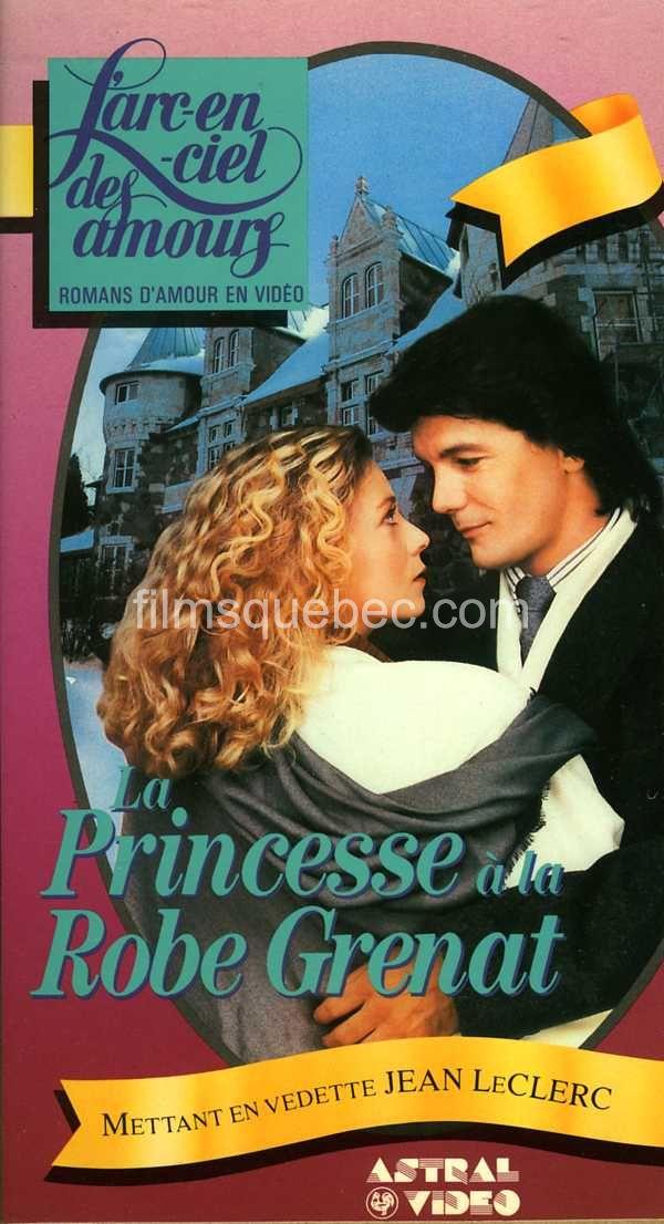 """Pochette de la VHS du film """"La princesse à la robe grenat"""" de Danièle J. Suissa"""