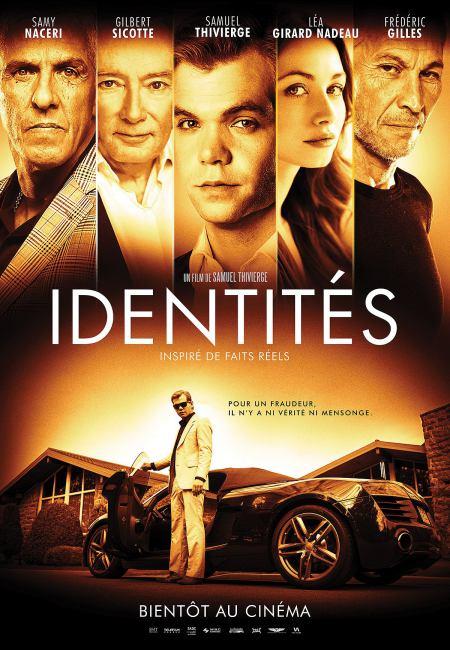 Affiche du film Identites (les comédiens principaux sont en haut d'image)