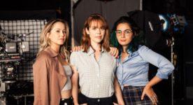 """Les comédiennes du film """"Fabuleuses"""" sont Juliette Gosselin (Clara), Noémie O'Farrell (Laurie) et Mounia Zahzam (Élizabeth). Photo: GO Films"""