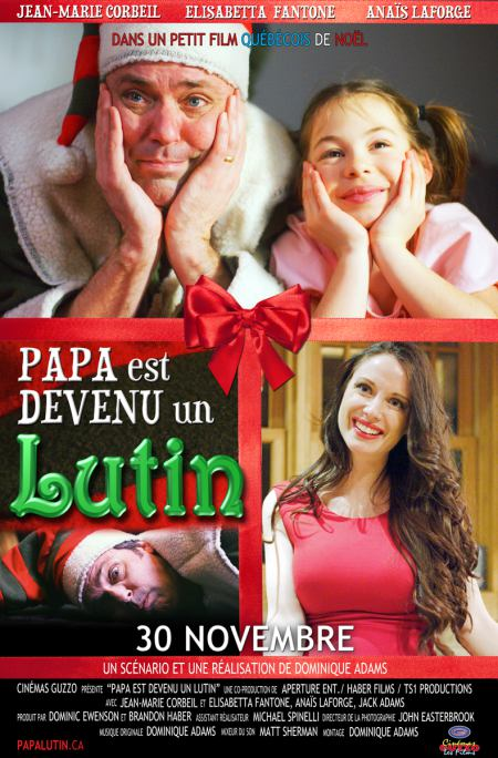 Affiche du film Papa est devenu un lutin de Dominique Adams
