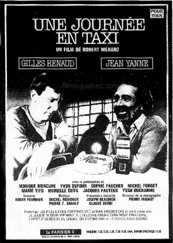 """Encart La Presse du 6 novembre 1982 pour le film """"Une journée en taxi"""" de Robert Ménard"""