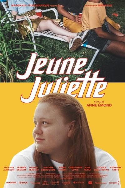 Affiche du film Jeune Juliette de Anne Émond (la jeune comédienne est de profil dans le bas de l'affiche, sous le titre)