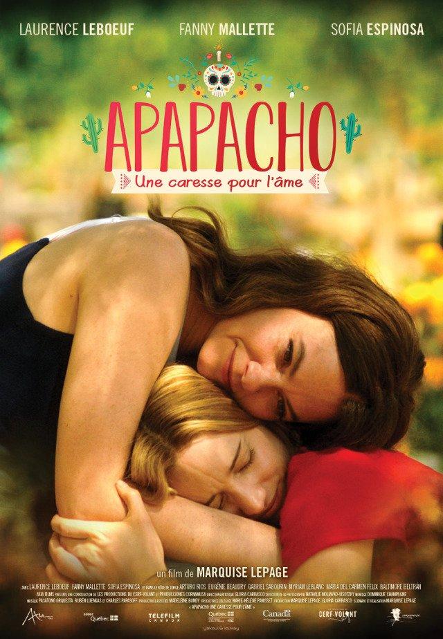 Affiche du film Apapacho, une caresse pour l'âme de Marquise Lepage (Axia Films) - En salle le 18 octobre 2019.