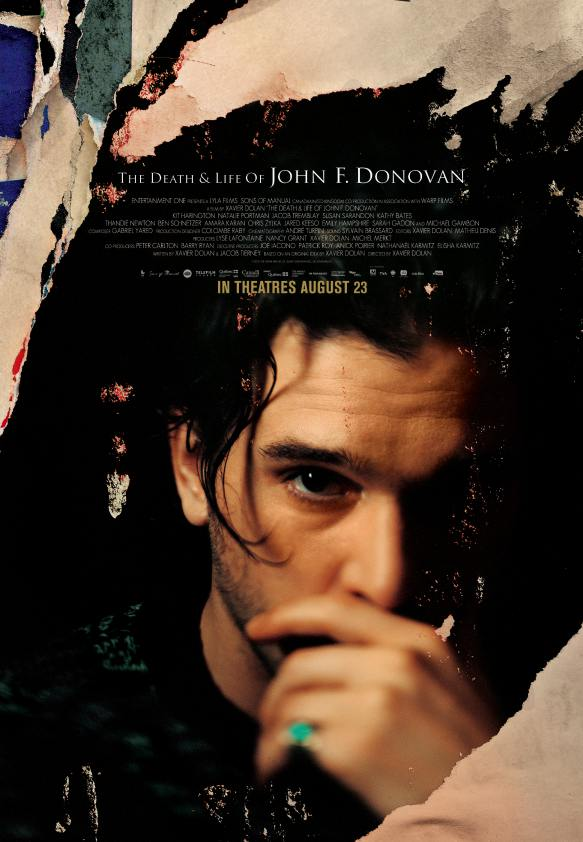 Affiche officielle du film de Xavier Dolan The Death And Life of John F. Donovan (image fournier par le distributeur Les Films Séville)