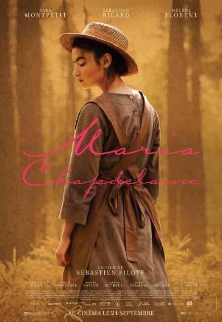 Affiche du film Maria Chapdelaine de Sébastien Pilote (la comédienne Sara Montpetit de trois quatrs dos)