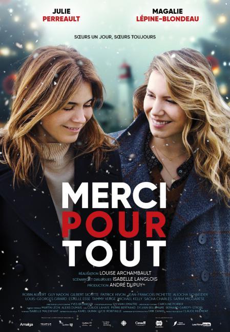 """Affiche du film """"Merci pour tout"""" (réal. Louise Archambault) - En salle au Québec le 25 décembre 2019"""