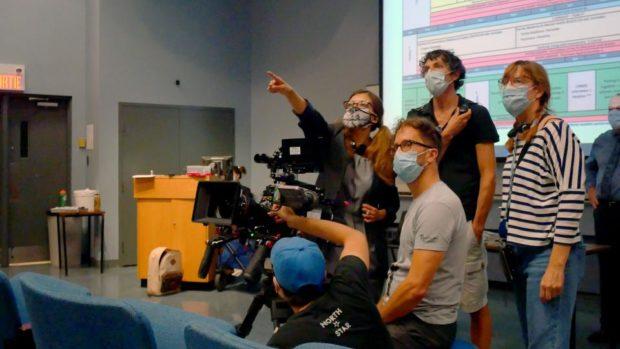 Patricia Chica et son équipe sur le tournage de Montreal Girls (Photo: Walid Ghodbane)