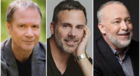 """Portraits de François Pérusse, Éric Bernier et Guy Jodoin, les 3 comédiens principaux de """"Niagara"""" de Guillaume Lambert"""
