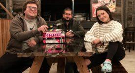 Eric K. Boulianne, Edouard A. Tremblay et Catherine Brunet - La bataille de Farador début du tournage.