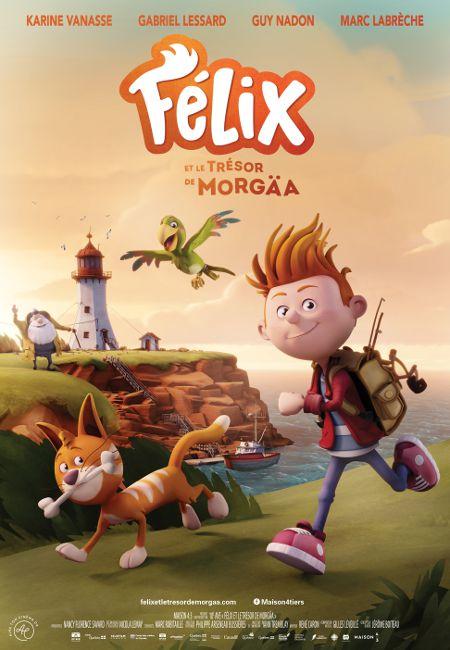 Affiche du film Félix et le trésor de Morgäa - Productions 10e Avenue - Maison 4:3