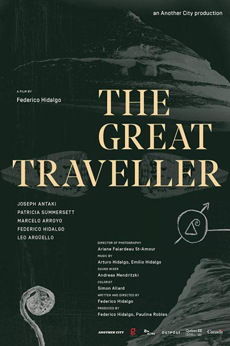 Affiche créée par Vanesa Mazza pour le film The Great Traveller de Federico Hidalgo