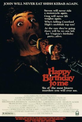 Happy Birthday To Me – Film de J. Lee Thompson