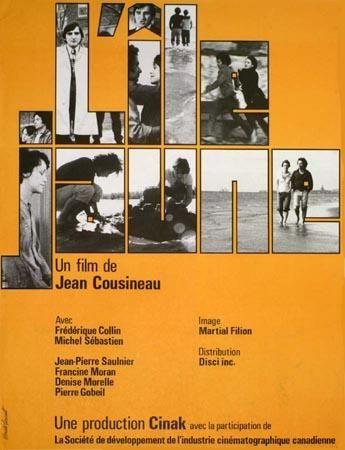 Affiche du film L'île jaune de Jean Cousineau