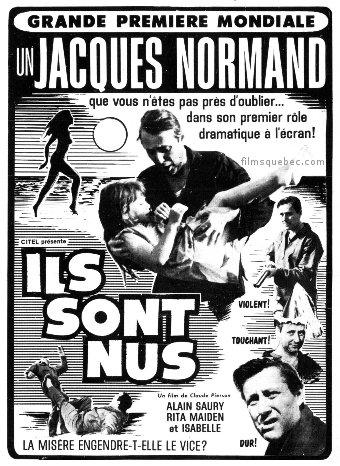 Encart presse du film Ils sont nus de Claude Pierson