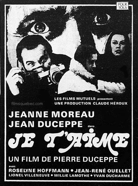 """Encart de presse paru lors de la sortie en salle du film """"Je t'aime"""" de Pierre Duceppe."""