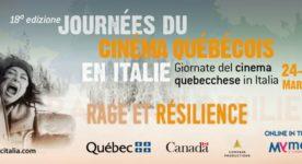 Affiche des Journées du cinéma québécois en Italie 2021