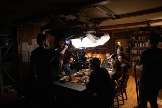 Sur le plateau de tournage de Jusqu'au déclin de Patrice Laliberté (photo Bertrand Calmeau - source: Netflix)