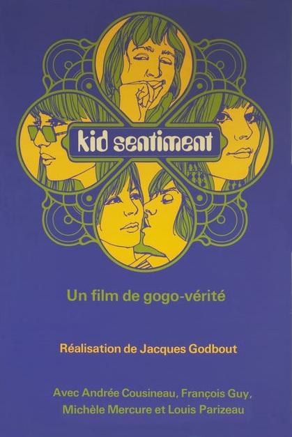 Affiche du film Kid Sentiment (mosaique jaune sur fond mauve)