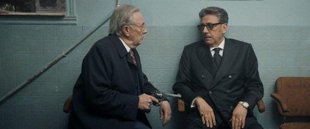 """Gilbert Sicotte et Sergio Castellito dans """"Mafia Inc."""" de Daniel Grou (image fournie par Les Films Séville)"""